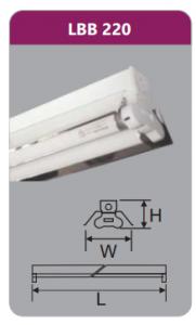 Đèn công nghiệp phản quang 2x9w LBB220
