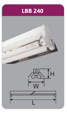 Đèn công nghiệp phản quang 2x18w LBB240