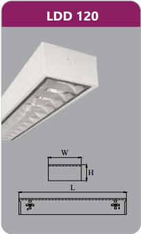 Máng đèn phản quang gắn nổi 1x9w LDD120
