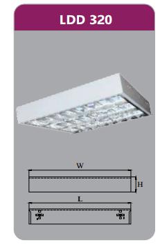 Máng đèn phản quang gắn nổi 3x9w LDD320