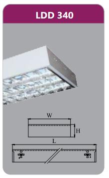 Máng đèn phản quang gắn nổi 3x18w LDD340