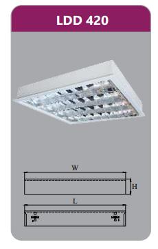 Máng đèn phản quang gắn nổi 4x9w LDD420