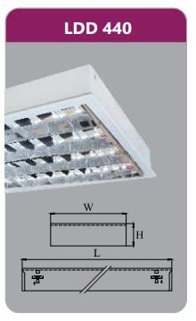Máng đèn phản quang gắn nổi 4x18w LDD440