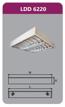 Máng đèn phản quang gắn nổi 2x9w LDD6220