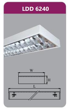 Máng đèn phản quang gắn nổi 2x18w LDD6240