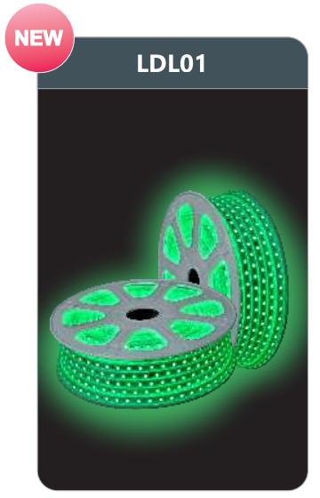 Đèn led dây cao áp ánh sáng xanh lá LDL01