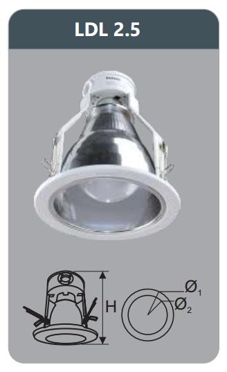 Đèn led downlight âm trần 3w LDL2.5