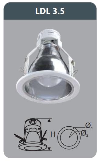 Đèn led downlight âm trần 5w LDL3.5