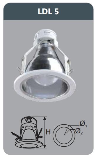 Đèn led downlight âm trần 9w LDL5