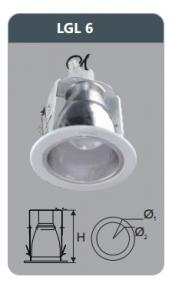 Đèn led downlight âm trần 12w LGL6