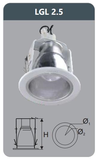 Đèn led downlight âm trần 3w LGL2.5