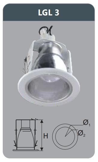 Đèn led downlight âm trần 3w LGL3