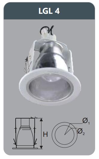 Đèn led downlight âm trần 7w LGL4