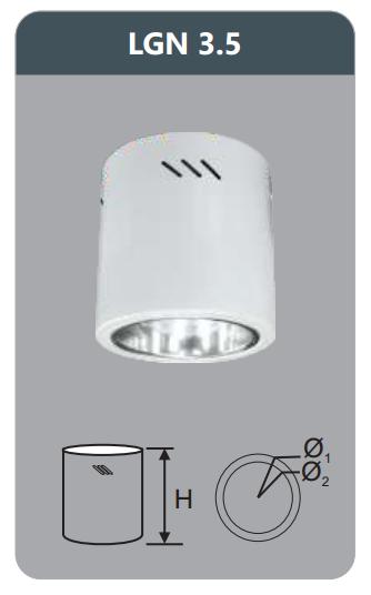 Đèn led downlight gắn nổi 5w LGN3.5