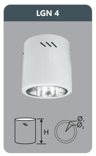 Đèn led downlight gắn nổi 7w LGN4