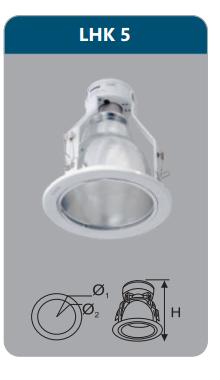 Đèn led downlight âm trần 9w LHK5