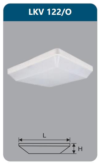 Đèn ốp trần vuông 22w LKV122/O