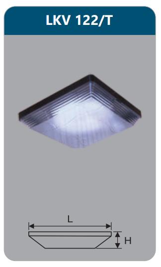 Đèn ốp trần vuông 22w LKV122/T