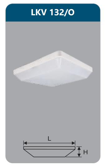 Đèn ốp trần vuông 32w LKV132/O