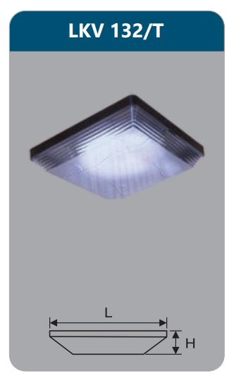 Đèn ốp trần vuông 32w LKV132/T
