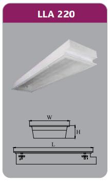 Máng đèn tán quang âm trần 2x9w LLA220