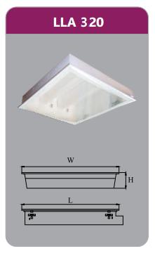 Máng đèn tán quang âm trần 3x9w LLA320