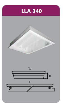 Máng đèn tán quang âm trần 3x18w LLA340
