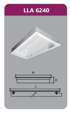 Máng đèn tán quang âm trần 2x18w LLA6240