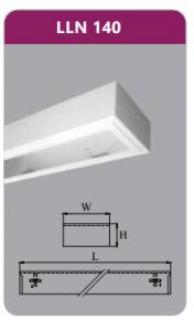 Máng đèn tán quang gắn nổi 1x18w LLN140