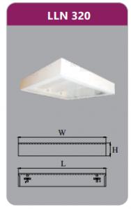 Máng đèn tán quang gắn nổi 3x9w LLN320