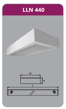 Máng đèn tán quang gắn nổi 4x18w LLN440