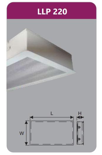 Máng đèn tán quang âm trần phòng sạch 2x9w LLP220