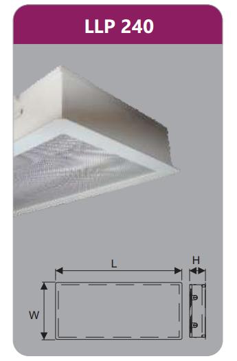 Máng đèn tán quang âm trần phòng sạch 2x18w LLP240