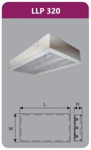 Máng đèn tán quang âm trần 3x9w LLP320