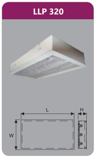 Máng đèn tán quang âm trần phòng sạch 3x9w LLP320