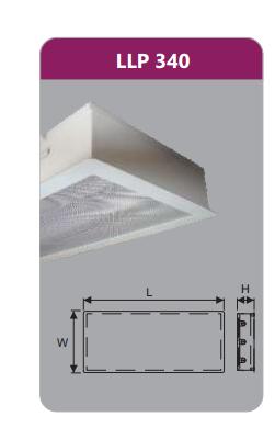 Máng đèn tán quang âm trần phòng sạch 3x18w LLP340