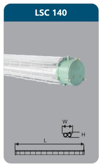 Đèn chống nổ 1x36w LSC140
