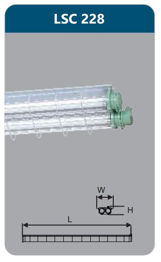 Đèn chống nổ 2x28w LSC228