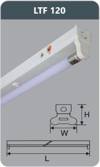 Đèn huỳnh quang siêu mỏng kiểu batten 9w LTF120