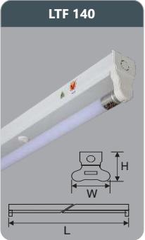 Đèn huỳnh quang siêu mỏng kiểu batten 18w LTF140