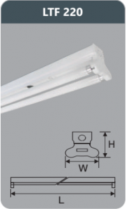 Đèn huỳnh quang siêu mỏng 9w LTF220