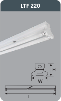 Đèn huỳnh quang siêu mỏng kiểu batten 9w LTF220
