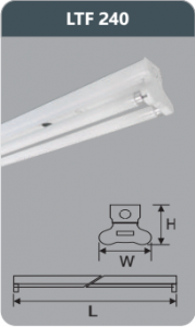 Đèn huỳnh quang siêu mỏng 18w LTF240