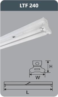 Đèn huỳnh quang siêu mỏng kiểu batten 18w LTF240