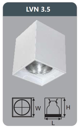 Đèn led downlight gắn nổi 5w LVN3.5