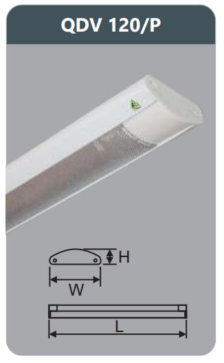 Đèn ốp trần led siêu mỏng 1x9w QDV120/P