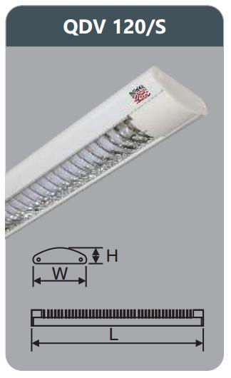 Đèn ốp trần led siêu mỏng 1x9w QDV 120/S
