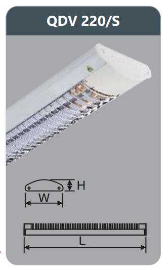 Đèn ốp trần led siêu mỏng 2x9w QDV220/S