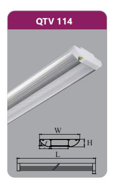 Đèn ốp trần led siêu mỏng 14w QTV114