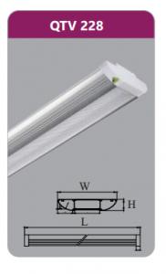 Đèn ốp trần led siêu mỏng 2x18w QTV228